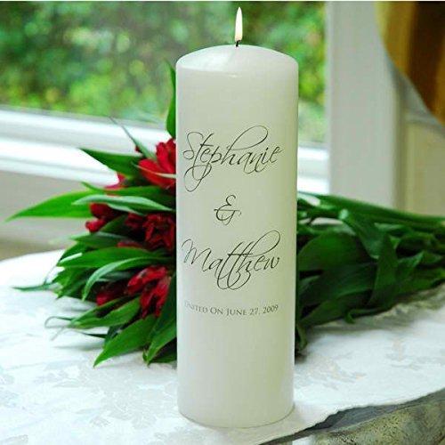 Concepts White Scriptina Unity Candle