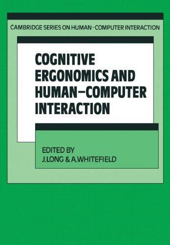 Cognitive Ergonomics and Human-Computer Interaction