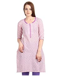 ESTYLe Ellipse Printed Kurta From ESTYLe With Embroidered Yoke