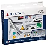 RT4991 Real Toys Delta Airlines 12 Piece Airport Playset