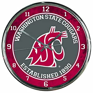 Buy NCAA Washington State Cougars Chrome Clock by WinCraft
