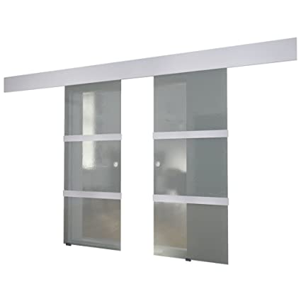vidaXL Double Sliding Door Glass