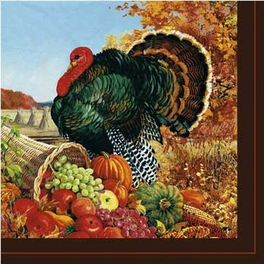 Pastoral Turkey Dinner Napkins