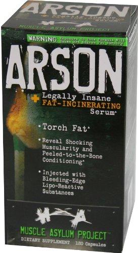 Muscle Asylum Arson, 120 rapid Release Capsules