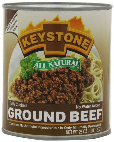 Keystone Meats All Natural Ground Beef, 28 Ounce (Subscribe And Save Meat compare prices)