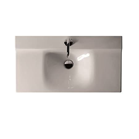 Buddy Ceramic Wall Mounted Bathroom Sink