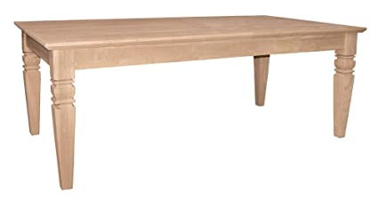 International Concepts OT-60C Java Coffee Table Unfinished
