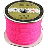150 Meters 1mm DIY Jewelry Bead String Chinese Knotting Nylon Rattail Cord Magenta