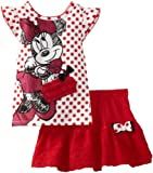 Disney Girls 2-6x Minnie Mouse 2 Piece Knit Shirt and Divided Skirt