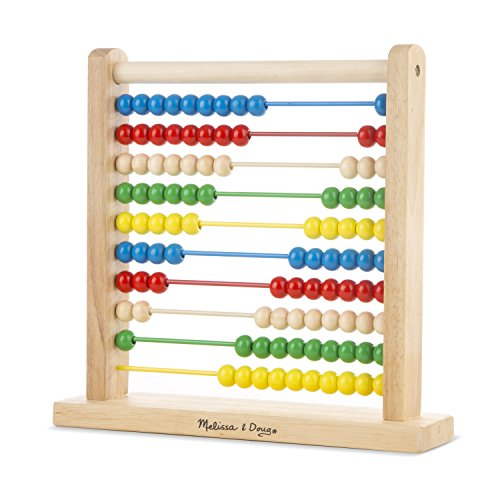 Melissa & Doug Classic Wooden Abacus Counting Abacus