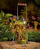 Frog Solar Mason Jar Table Lights Lights Spring Garden Patio Decoration