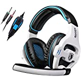 SADES SA810 3.5mm Stereo PC Gaming Headset Headphones With Mic For PC/Laptop(White)