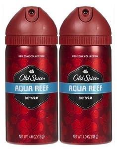 Old Spice Red Zone Deodorant Body Spray, Aqua Reef - 4 Oz
