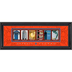 Prints Charming Letter Art Framed Print, Detroit Tigers-Tigers, Bold Color Border by Prints Charming