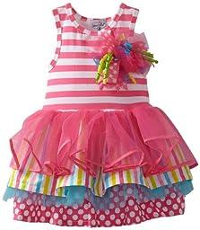 Mud Pie Baby Girls\' Tiered Birthday Party Tutu Dress, Multi, 12 18 Months