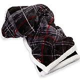 グルーニー Groony ブランケット 毛布 マイクロファイバー シングル (140×210cm) ブラックチェック