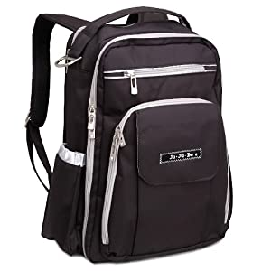 Ju-Ju-Be Be Right Back Backpack Diaper Bag, Black/Silver