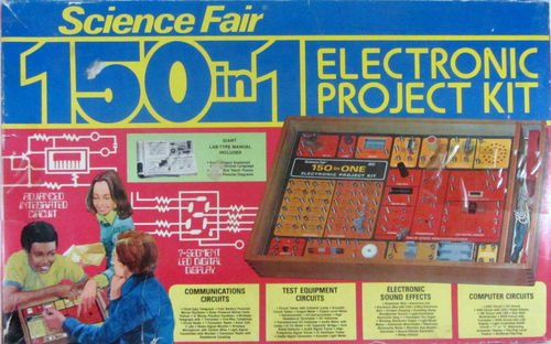 Vintage 1970'S Science Fair 150 In 1 Electronic Project Kit With Instructions