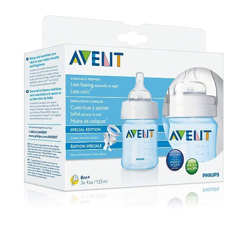 Philips AVENT Feeding Bottle 4oz 3pk - Blue