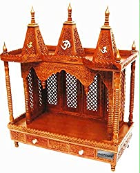 Aarsun Handcrafted Wooden Temple / Mandir for home and office in Sheesham Wood