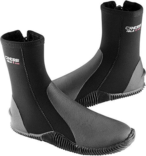 Cressi Boots With Soles Calzari in Neoprene con Suola, 5mm, Nero, XS