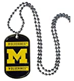 NCAA Michigan Wolverines 36-Inch Ball Chain Necklace with Licensed Tag