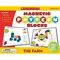 Scholastic TF7504 The Farm Magnetic Pattern Blocks