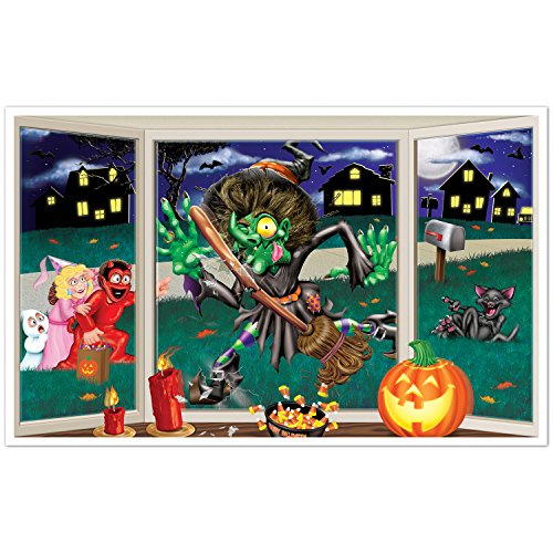 Beistle Crashing Witch Insta View, 3-Feet 2-Inch by 5-Feet 2-Inch