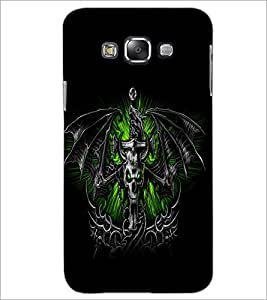 PrintDhaba Skull and Bat D-1161 Back Case Cover for SAMSUNG GALAXY A7 (Multi-Coloured)