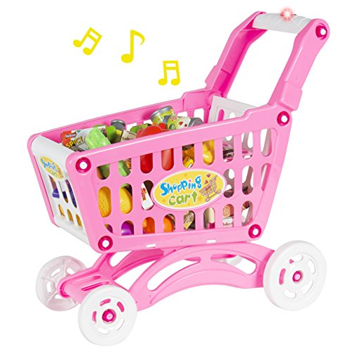 Best-Choice-Products-Shopping-Cart-Toy-Pretend-Play-With-Fruits-Vegetables-Lights-and-Music