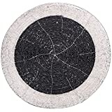 "Mela Round Glass Beaded Place Mats - 8"", Set Of 2"