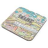 PosterGuy Coasters - Delhi Belly Travel, Souveneir, Chalo Dilli, Delhi, India Capital, Food Capital