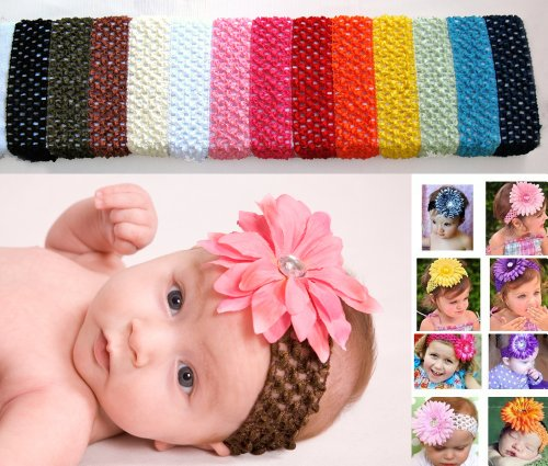 Girls With Headbands. Girl Crochet Headbands (13