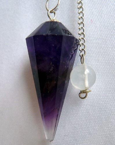 Natural Amethyst Crystal Pendulum 12 Facet Reiki Charged