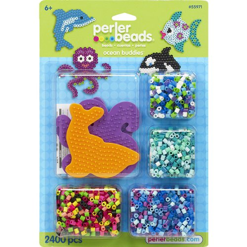 Perler Beads Ocean Buddies Fused Bead Kit