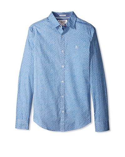Original Penguin Men's Gl Reverse Side Floral Shirt