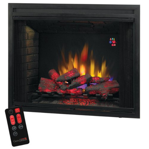 39 Builders Box With Fixed Glass Front 39eb500gra Cheap Lowes Electric Fireplace
