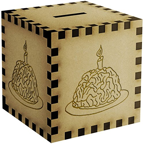 Brain With A Candle Engraved Money Box / Piggy Bank (MB00002769)
