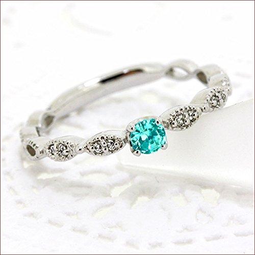 パライバトルマリン ダイヤモンド リング リング パライバトルマリン ジュエリー ダイヤ リング 指輪 プラチナ リング プラチナ900 プラチナ Pt 重ね着け