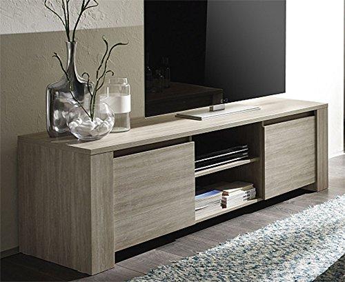 Mobile porta tv moderno ivo finitura tinta rovere gessato for Sparecchiatavola moderno