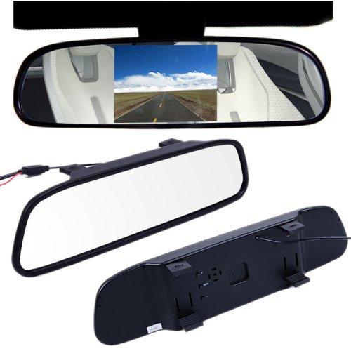 "4.3"" Tft Lcd Color Monitor Mirror Reverse Car Rear View Backup Camera Dvd 12V"