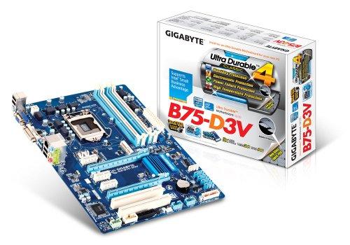 Gigabyte B75-D3V Motherboard Core I3/I5/I7/Pentium/Celeron Socket Lga1155 Intel B75 Express Atx Gigabit Lan