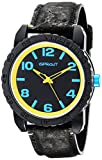 Sprout Mens ST/7011BKBK Black and Yellow Watch with Black Natural Cork Strap