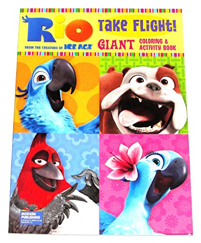 Modern Publishing Rio Take Flight Coloring & Activity Book A Fun Book to Color (96 Total Pages) - 1