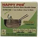 Happy Pho Zesty Ginger Vietnamese Brown Rice Noodle Soup, 4.5 Ounce -- 6 per case.