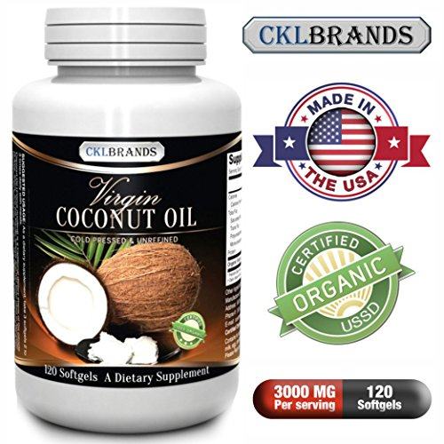 Coconut Oil Capsules - Get All The Benefits Of This Amazing Superfood In Convenient Softgel Form - Contains Unrefined 100 Percent Usda Certified Organic Coconut Oil, Which Has Been Shown To Aid In Weight Loss, Boost Energy & Improve Skin - 3000 Mg Per Ser