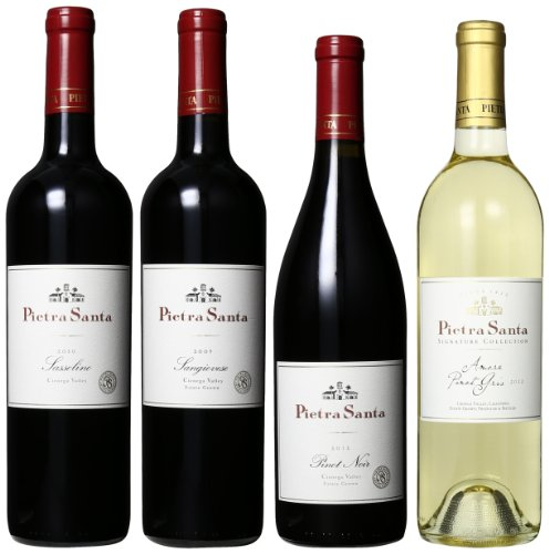 Pietra Santa Winery Estate Medal Mixed Pack, 4 X 750 Ml
