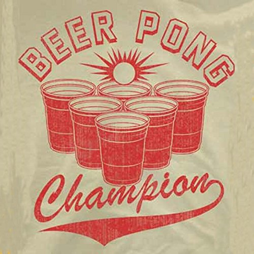 Beer Pong Champion T-Shirt-That Funny Shirt-Medium-Sand (Beer Pong Champions compare prices)