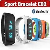 E02 Bluetooth SmartBand Smart Wristband Fitness Sports Bracelet
