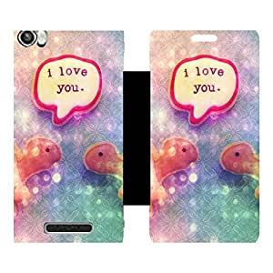 Phone Candy Designer Flip Cover with hi-res printed Vinyl sticker wrap-around for Lava Iris X8